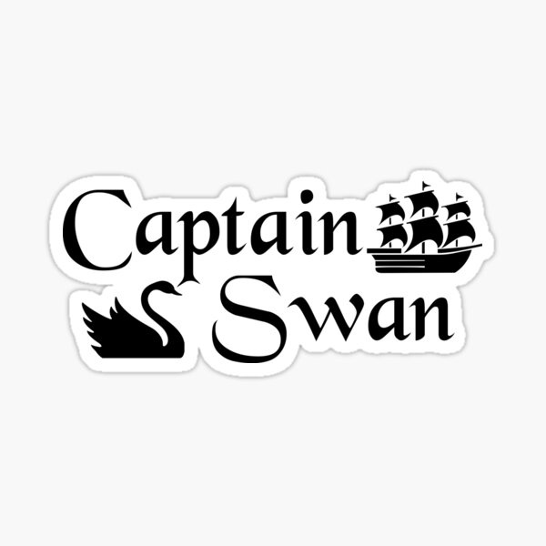 Captain Swan Icons Typography 2 Sticker