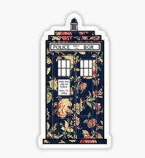 Floral TARDIS Sticker