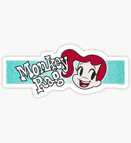 Monkey Rag - Mitzi Smile And Logo Sticker