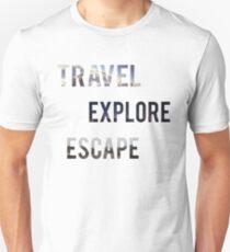 Travel Explore Escape- 3 Pack Landscapes Unisex T-Shirt
