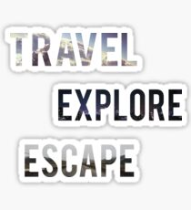 Travel Explore Escape- 3 Pack Landscapes Sticker