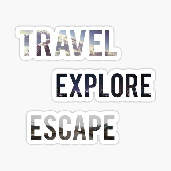 Travel Explore Escape- 3 Pack Landscapes Sticker