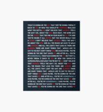 Oasis - Wonderwall Art Board
