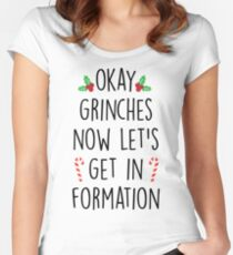 Okay Grinches  Women's Fitted Scoop T-Shirt