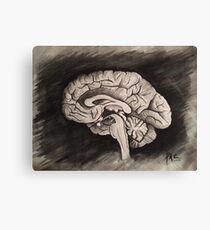Sagittal (Black and White) Canvas Print