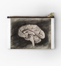 Sagittal (Black and White) Studio Pouch