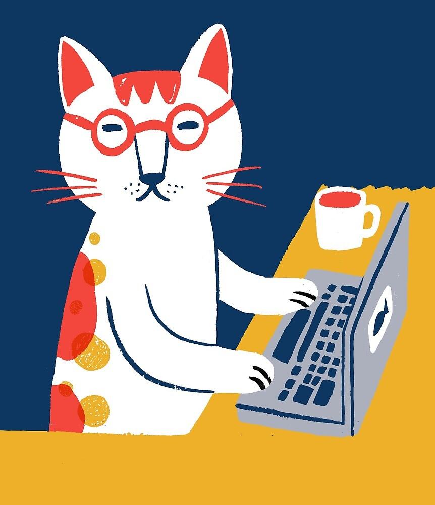 Geek cat by HuiSkipp