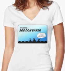 Mystery Science Theater 3000 and Joe Don Baker. A love/hate relationship Women's Fitted V-Neck T-Shirt