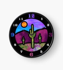 Desert Stained Glass Clock