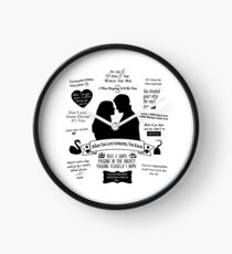 "Captain Swan ""Iconic Quotes"" Silhouette Design  Clock"
