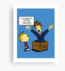 Calvin and the Doctor Canvas Print