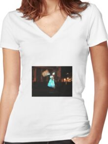 They walk among us.... Women's Fitted V-Neck T-Shirt