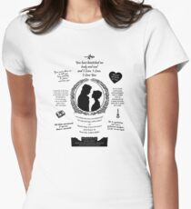 "Pride and Prejudice Elizabeth and Darcy ""Iconic Quotes"" Silhouette Design  Womens Fitted T-Shirt"