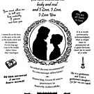 "Pride and Prejudice Elizabeth and Darcy ""Iconic Quotes"" Silhouette Design  by Marianne Paluso"