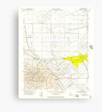 USGS TOPO Map California CA Tupman 301000 1954 24000 geo Canvas Print