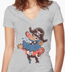 Y'arrrrr tee Women's Fitted V-Neck T-Shirt