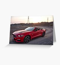 Ford Mustang convertible UAE mountains Greeting Card