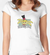 Monkey Rag - Spanko Grin And Logo Women's Fitted Scoop T-Shirt