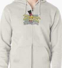 Monkey Rag - Spanko Grin And Logo Zipped Hoodie