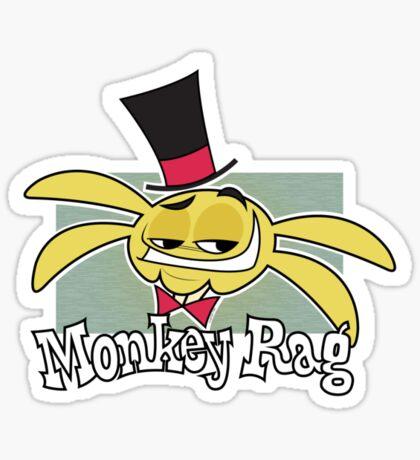 Monkey Rag - Spanko Grin And Logo Sticker