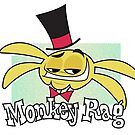 Monkey Rag - Spanko Grin And Logo by Joanna Davidovich