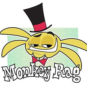 Monkey Rag - Spanko Grin And Logo by jothezette