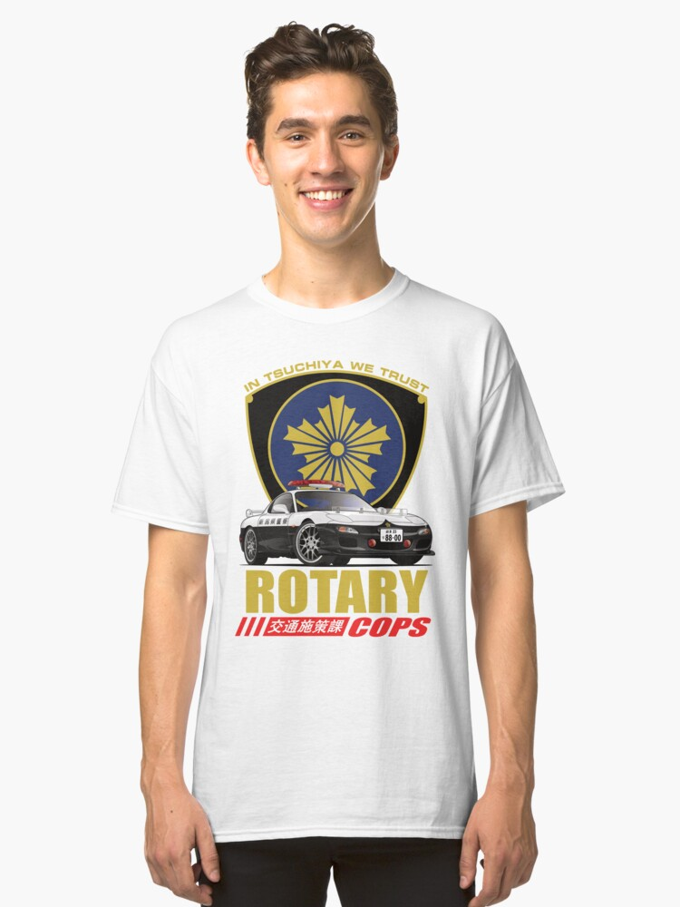 Rotary Cops RX7 FD Classic T-Shirt Front
