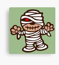 mummy mummy cartoon horror show Canvas Print