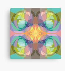 Nouveau Abstract Art Colour Wheel Canvas Print