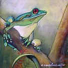 Rainforest call......pastel painting by sandysartstudio