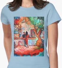 Plein Air Cafe Womens Fitted T-Shirt