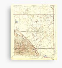 USGS TOPO Map California CA Tupman 301548 1933 31680 geo Canvas Print