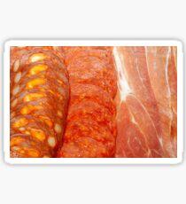 Chorizo Salami and Prosciutto Sticker