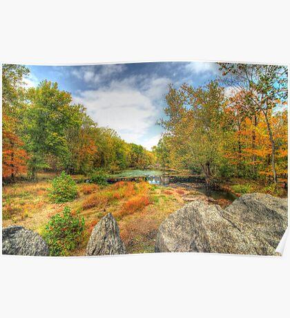 Autumn At The Creek - Green Lane - Pennsylvania - USA Poster
