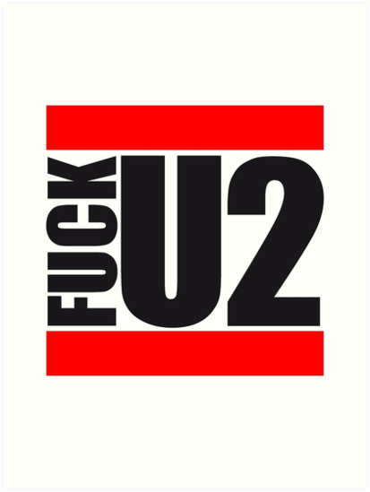 Red Bars Text Design Two 2 Number Too Too Cool Letter U Fuck You