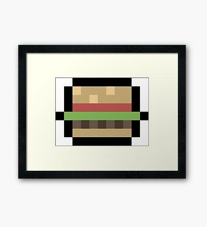 8-Bit Burger Framed Print