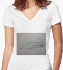 Restful (large) Women's Fitted V-Neck T-Shirt
