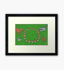 The Fauna and the Fairy Ring - Whimsical Animal Art Framed Print