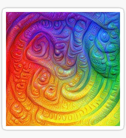 Color Foam #DeepDream Sticker