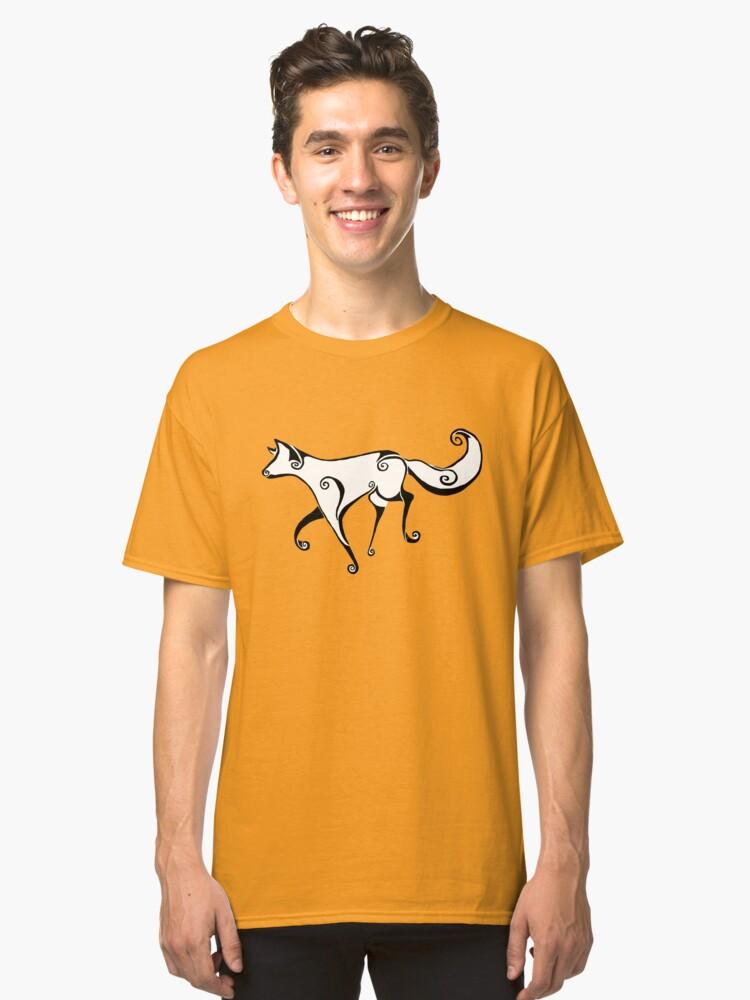 Swirl fox Classic T-Shirt Front