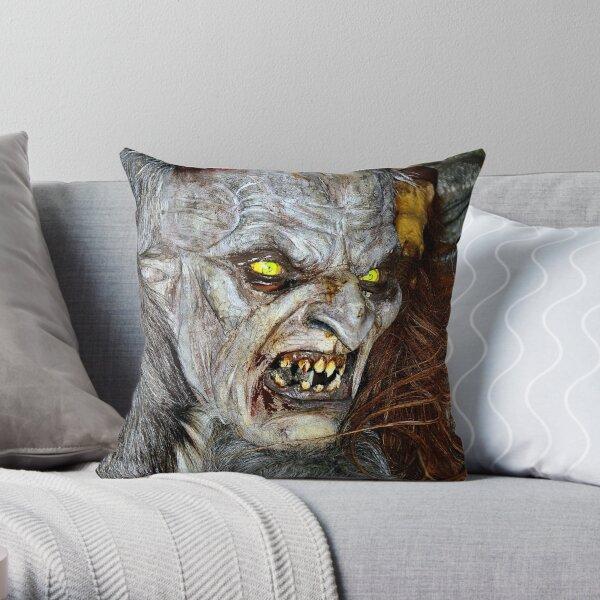 Traditional Krampus Mask, Tyrol, Austria Throw Pillow