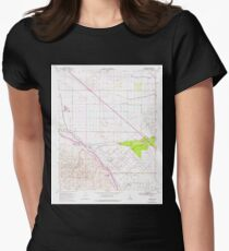 USGS TOPO Map California CA Tupman 102072 1954 24000 geo Womens Fitted T-Shirt