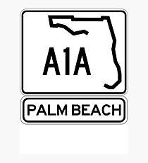 A1A - Palm Beach Photographic Print
