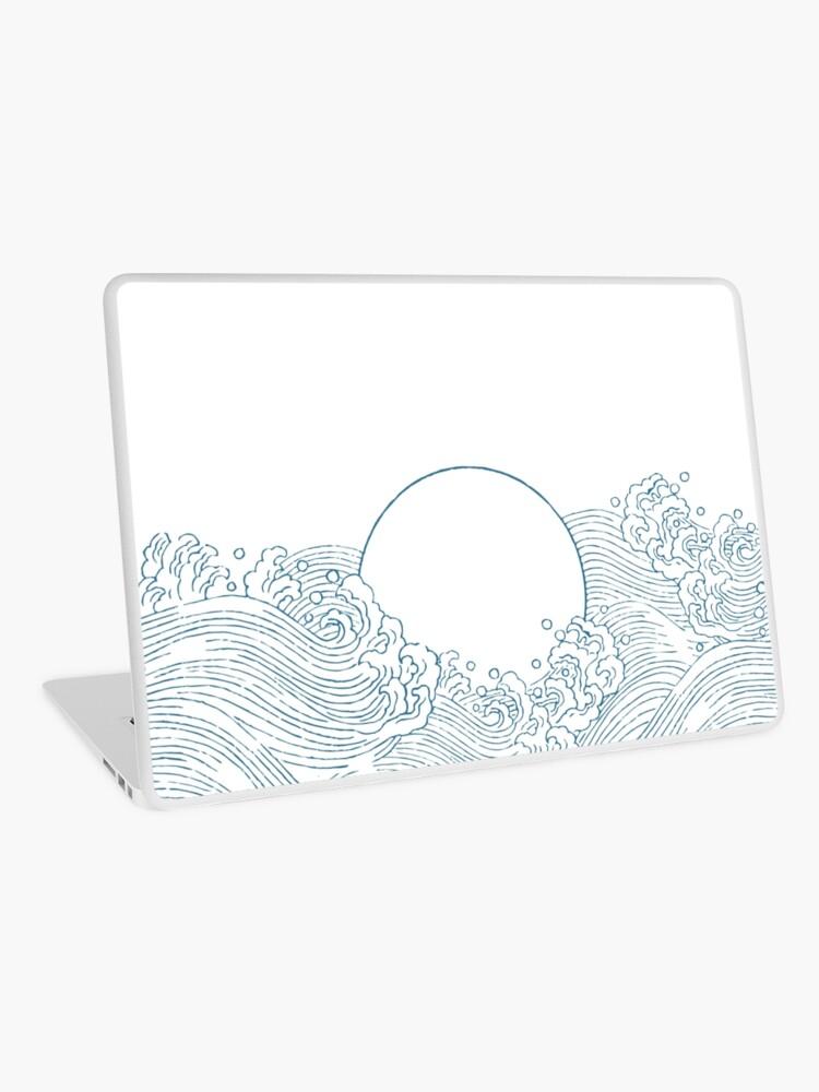 Eastern Pattern - Waves and sun   Laptop Skin