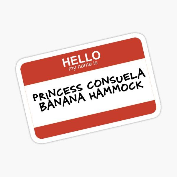 Hamaca de princesa Consuela Banana Pegatina