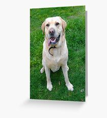 The Day the Labrador Came to Play...(See Artist Notes) Greeting Card