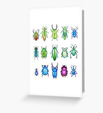 Metallic Beetles Greeting Card