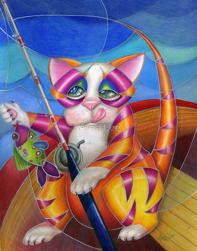 Kitty Row Your Boat by Alma Lee