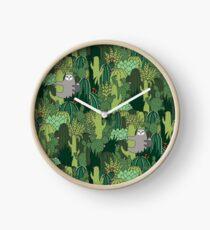 Cactus Sloth Clock