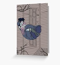 Vampire Saloon Girl Greeting Card